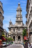 Drievuldigheid Church Eglise DE La Sainte-Trinite Parijs, Frankrijk royalty-vrije stock afbeeldingen