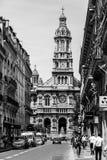 Drievuldigheid Church Eglise DE La Sainte-Trinite Parijs, Frankrijk stock fotografie
