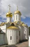 Drievuldigheid Lavra van St. Sergius. De Kathedraal van de drievuldigheid Stock Afbeeldingen