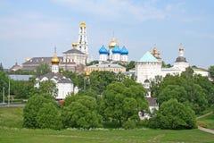 Drievuldigheid-St. De mening van Lavra van Sergius. Royalty-vrije Stock Afbeeldingen