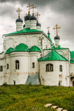 Drievuldigheidskathedraal in Alexandrovskaya-dorp Stock Afbeelding