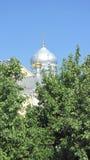 Drievuldigheidskathedraal van het Heilige klooster van Drievuldigheids serafijn-Diveevo Stock Fotografie