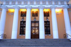Drievuldigheidskathedraal van St Danilov Klooster in Moskou Stock Foto's