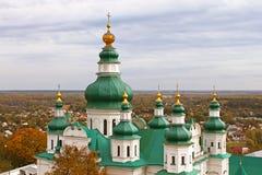 Drievuldigheidsklooster in Chernigiv, de Oekraïne stock afbeeldingen