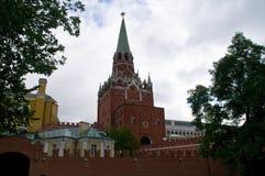Drievuldigheidstoren van Moskou het Kremlin Stock Afbeelding