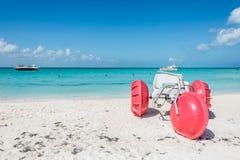 Driewieler bij Isla Mujeres-strand, tropisch Caraïbisch paradijs, Me royalty-vrije stock foto's