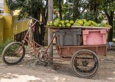 Driewieler in de straten van Havana, Cuba stock foto