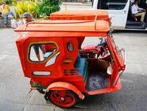 Driewieler op straat in Boracay, Filippijnen stock afbeelding