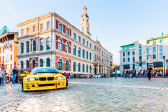 Drift Allstars parade on Hall square on July 31, 2015, Riga, Latvia. Stock Photos