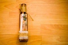 Drift bottle. On the floor Stock Image