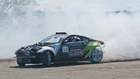 Drift car. Picture of drift competition at napierville dragway in canada Stock Photography