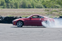 Drift car. Picture of drift racing car during competition at napierville dragway Stock Photography