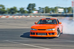 Drift car in action Royalty Free Stock Image