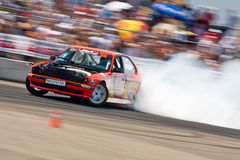 Drift car in action Royalty Free Stock Images