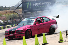 Drift car in action Royalty Free Stock Photo