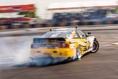 Drift car drifting in D1 Grand Prix title Royalty Free Stock Photo