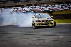 Drift car in motion on the HGK Drift Challenge 2018 Royalty Free Stock Image