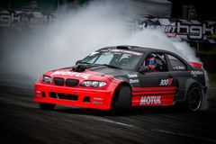 Drift car in motion on the HGK Drift Challenge 2018 Royalty Free Stock Photography