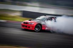 Drift car in motion on the HGK Drift Challenge 2018 Stock Image