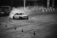 Drift car in oman. This photo is from redbull drift car battle in oman stock photos