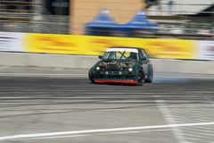 Drift car. Overcome the track stock images