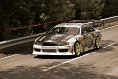 Drift car at Rampa da Falperra 2012 Royalty Free Stock Photo