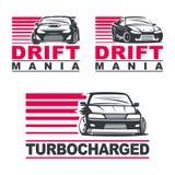 Drift car set2 Stock Images