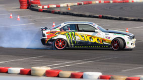 Drift car smoke Stock Images