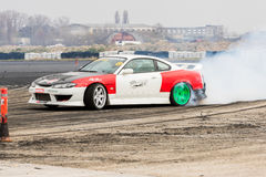 Drift car. In Tököl, Hungary 2016 Stock Image