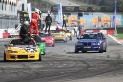 Drift Cars Stock Image