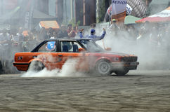Drift demonstration Royalty Free Stock Images