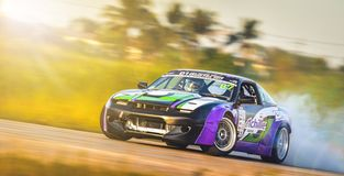 Drift driving Training on november 25 , 2017 in Prathumthanee Sp royalty free stock images