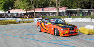 Drift exhibition of a sports car Stock Images
