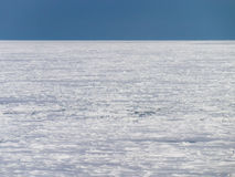 Drift Ice of Okhotsk Sea in Hokkaido, Japan. Okhotsk Sea is located between the Kamchatka Peninsula, the Russian coastline, Sakhalin Island and the Japanese Royalty Free Stock Image
