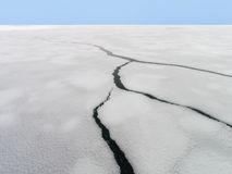 Drift Ice of Okhotsk Sea in Hokkaido, Japan. Okhotsk Sea is located between the Kamchatka Peninsula, the Russian coastline, Sakhalin Island and the Japanese Stock Photos