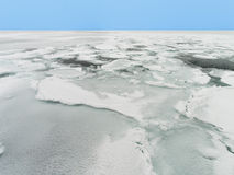 Drift Ice of Okhotsk Sea in Hokkaido, Japan Royalty Free Stock Photos