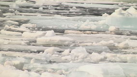 Drift ice in the spring. On the river stock footage