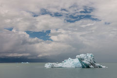 Drift ice on Viedma lake in Patagonia Royalty Free Stock Photos