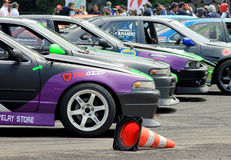 Drift Race: Drift Contestant Cars Royalty Free Stock Image