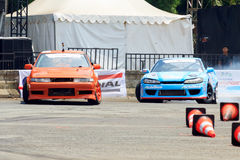 Drift Race: Head To Head Drift Battle Stock Photography