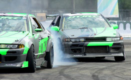 Drift Race: Head To Head Drift Battle Stock Photo
