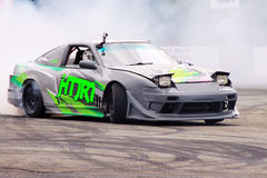 Drift Race: Single Drift Action Royalty Free Stock Images