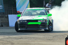 Drift Race: Single Drift Action Royalty Free Stock Photos