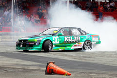 Drift Race: Single Drift Action Stock Image
