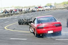 Drift racing. Image of drift racing car at napierville dragway Stock Images