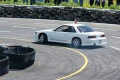 Drift racing. Image of drift racing car at napierville dragway royalty free stock photos