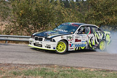Drift racing car BMW royalty free stock photo
