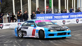 Drift racing car. RTR Show of Masters stock photos
