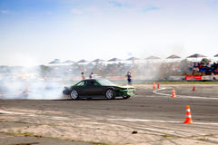 Drift racing. Drift car. Subject motion blur, concept of speed Royalty Free Stock Photo