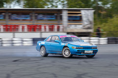 Drift racing car Stock Images